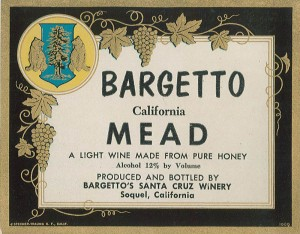 Bargetto Mead label 1960s