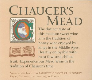 Chaucers Mead label 1970s