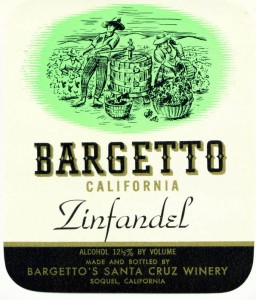 Zinfandel wine label 1940s, currently known as our Retro Label