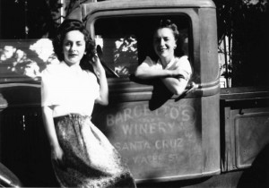 BARGETTO WINERY Delivery Truck with Norma and Emily cr 1944
