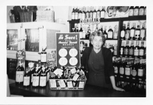 Sylvia at the Bargetto Water Street Store 1953