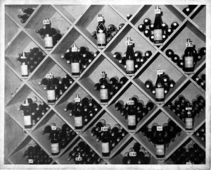 Wine rack at BARGETTO WINERY Tasting Room 1970s